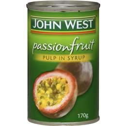 John West Passionfruit Pulp in Syrup 170g x 8 (Bulk Value Pack)