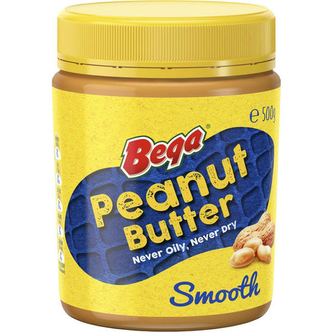 Bega Peanut Butter Smooth 500g x 3 (Bulk Value Pack)