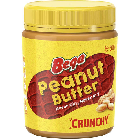 3 x Bega Peanut Butter Crunchy 500g (Bulk Value Box)