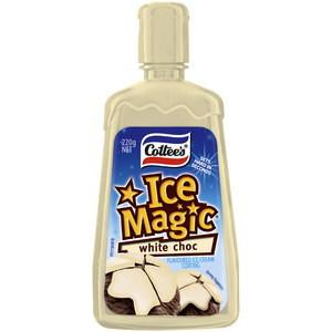 Cottee's Ice Magic White Chocolate Topping 220g x 7 (Bulk Value Pack)