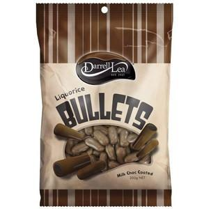 Darrel Lea Milk Chocolate Liquorice Bullets 200g