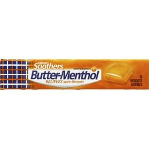 Butter Menthol Throat Lozenges 10 Pack