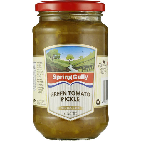 Spring Gully Pickles Green Tomato 415g