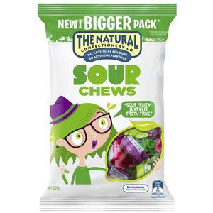 The Natural Confectionery Sour Chews 220g