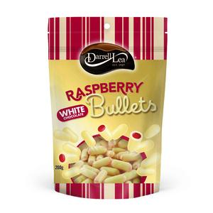 Darrel Lea Raspberry & White Chocolate Liquorice Bullets 7 x 250g (Bulk Value Box)