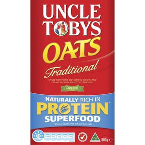 Uncle Tobys Tradtional Porridge Oats 500g x 3 (Bulk Value Pack)