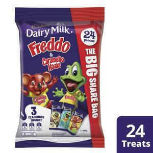 Cadbury Freddo, Freddo Milky Top & Caramello Koala *Combo Bag* - 24 Treats x 6 (Bulk Value Pack)