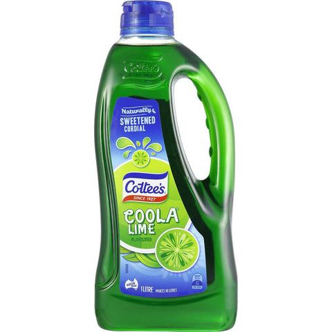 Cottee's Lime Coola Cordial 1L