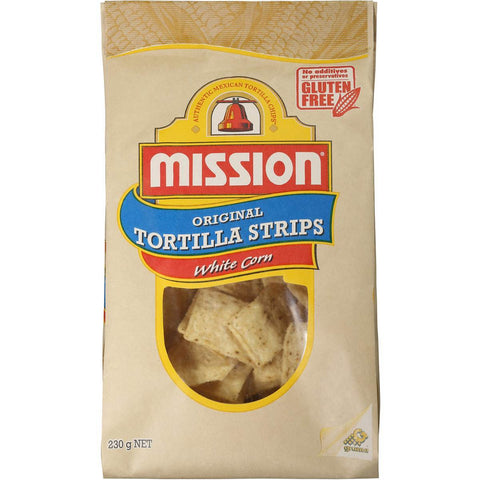 Mission Tortilla Strips White Corn 230g
