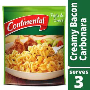 Continental: Bacon Carbonara Pasta & Sauce (Serves 3) 85g
