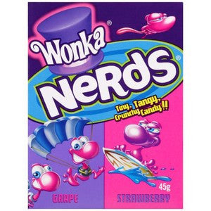 Wonka Nerds Grape & Strawberry 45g