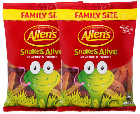 Allens Snakes Alive Family Size 450g