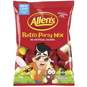 Allens Retro Party Mix Lollies x 9 (Bulk Value Box)