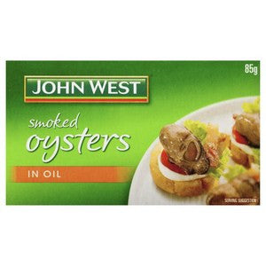 John West Smoked Oysters in Vegetable Oil   85g