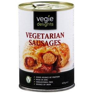 Sanitarium Vegie Delights Vegetarian Sausages - 425g x 3 (Bulk Value Pack)