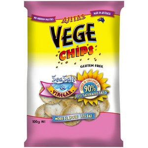 Vege Chips - Original Sea Salt & Malt Vinegar - **Gluten Free** 100g