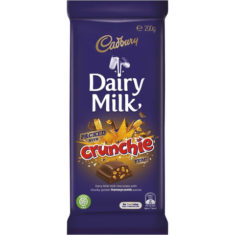 Cadbury Dairy Milk Packed With Crunchie 200g