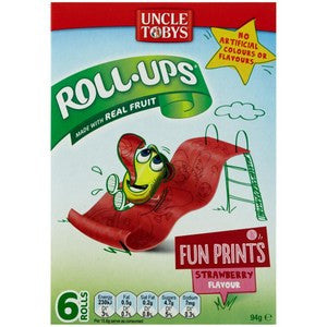 Uncle Tobys Roll Ups Strawberry 6-Pack