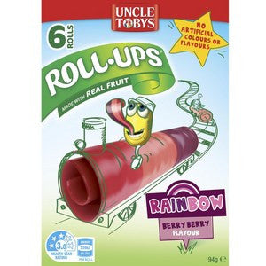 Uncle Tobys Roll Ups Rainbow 6-Pack