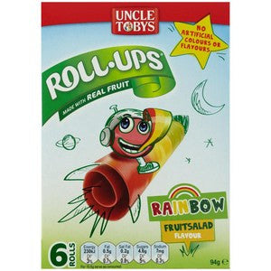 Uncle Tobys Roll Ups Rainbow Fruit Salad 6-Pack