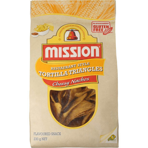 Mission Corn Chips Cheesy Nacho 230g