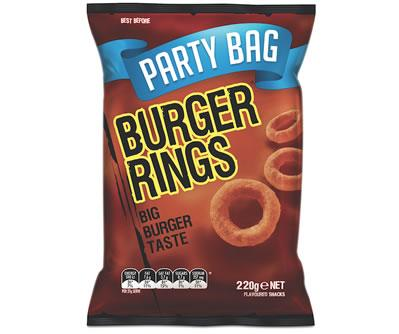 Burger Rings Party Bag 220g