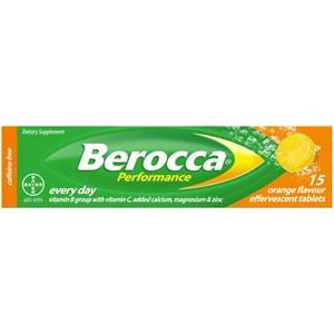 Berocca Performance Orange Effervescent Tablets 15 pack