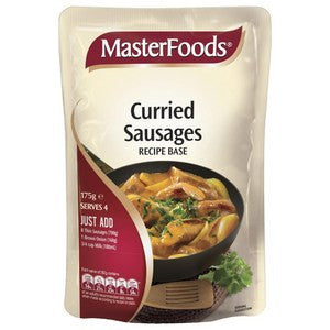 MasterFoods Curried Sausages Recipe Base 175g x 9 (Bulk Value Pack)
