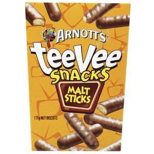 Chocolate Malt Sticks TeeVee Snacks x 9 (Bulk Value Box)