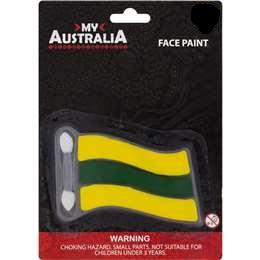 Green and Gold Face Paint
