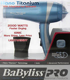 BaByliss PRO Nano Titanium Hair Dryer / Blow Dryer - Family Deals