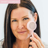 PMD Clean Pro RQ - Smart Facial Cleansing Device, Blush with Rose Quartz - Family Deals