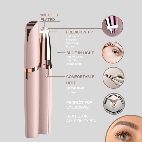 Flawless Precision Eyebrow Trimmer & Epilator