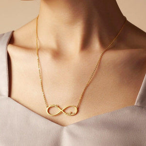 I Will Love You Infinitely Personalized Name Necklace