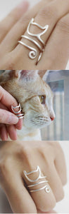 Cute Kitten Hug Ring