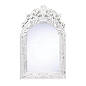 "Family Deals 20"" Shabby Chic Wood Arched-Top Wall Mirror"