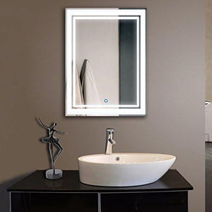 24*32 in. Vertical LED Bathroom Silvered Mirror/Touch Button(D-CK160) - Family Deals