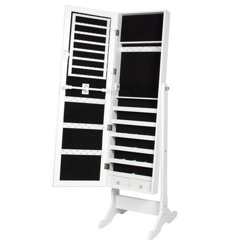 Best Choice Products Mirrored Jewelry Cabinet Armoire With