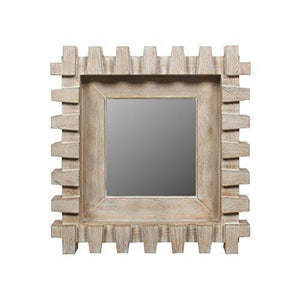 "Family Deals Cambrae Wood Framed Mirror, Brown - 4""x25""x24"""