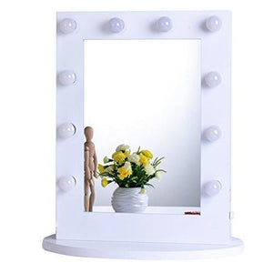 Family Deals Chende Hollywood Makeup Vanity Mirror with Light Tabletops Lighted Mirror with Dimmer Gift