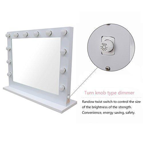 Chende white hollywood lighted makeup vanity mirror light with family deals chende white hollywood lighted makeup vanity mirror light with dimmer gift mozeypictures Images
