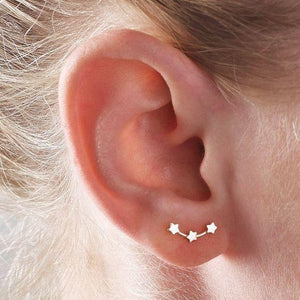 Dainty Silver Star Stud Earrings - Family Deals