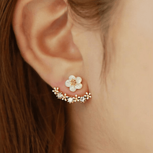 Family Deals Earrings Gold Cute Daisy Stud Earrings