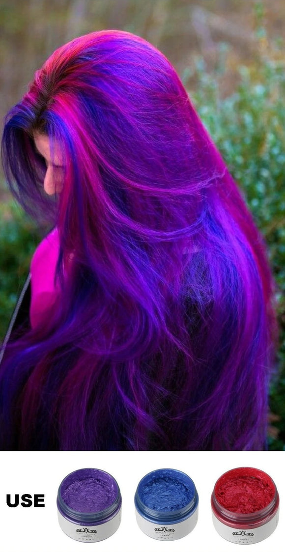 Temporary Hair Color Dye Wax - Family Deals