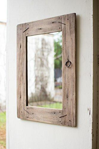 Family Deals KALALOU CXJ1157 RECYCLED RECTANGLE WOODEN MIRROR