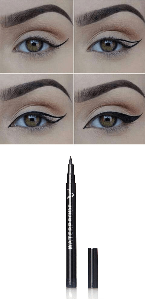 Family Deals Make up Black, Smudge-proof, Waterproof and  Long Lasting Eye Liner Pencil