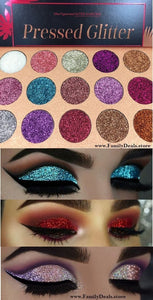 """Glitter Cocktail"" -  Pressed Glitter MULTI COLOR Eye shadow palette - Family Deals"