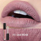 Family Deals Make up Old Rose Exquisite, Long-lasting Matte & Glitter liquid lipstick with a luxurious hue.