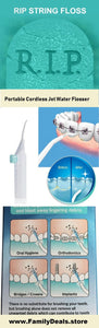 Family Deals Make up Portable Cordless Dental Water Flosser - Oral Irrigator