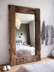 Full Length Rlaimed Wood Floor Mirror Family Deals
